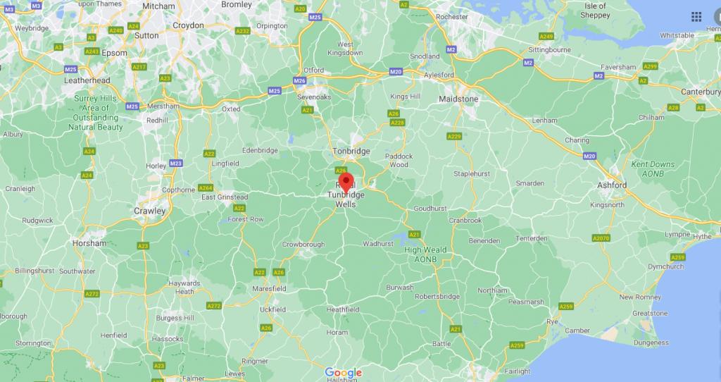 Tunbridge Wells map