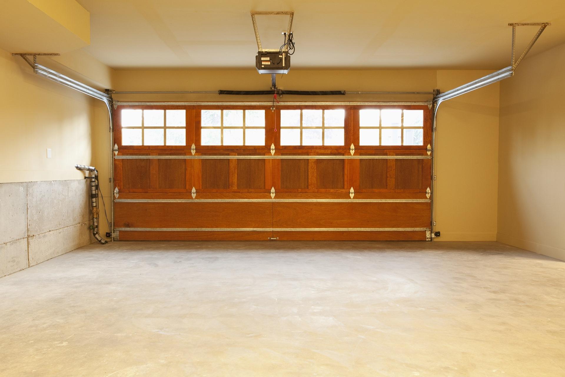 Interior of garage before conversion