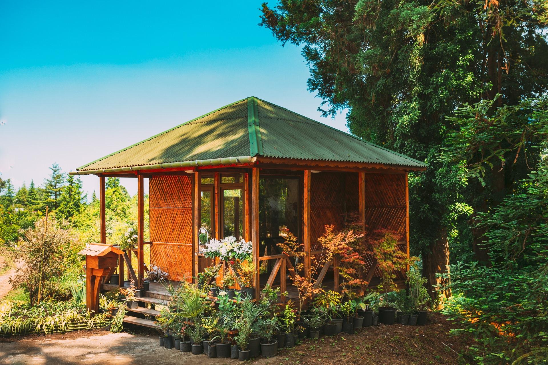 outbuilding in garden