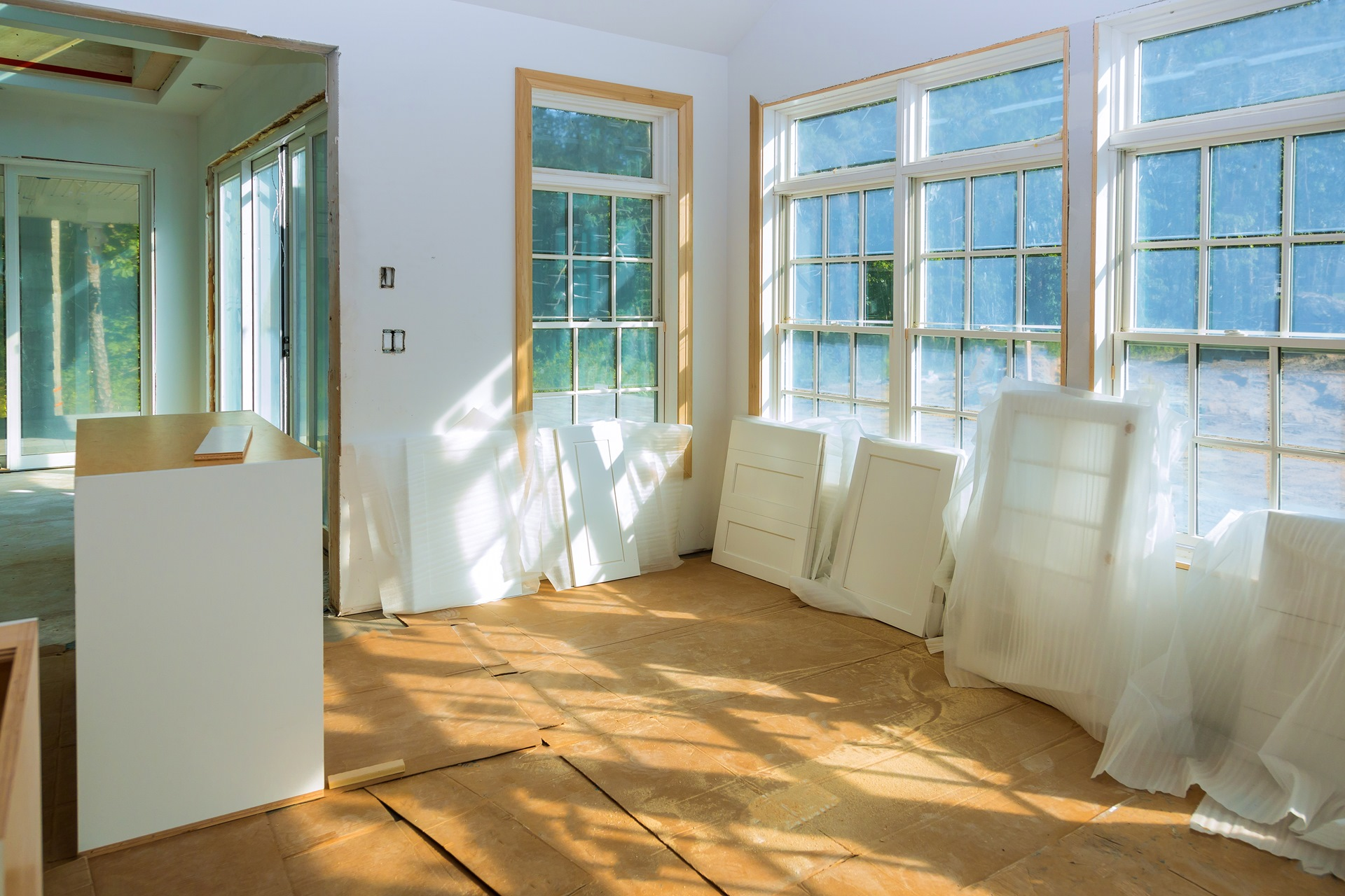 Preparation for installation for under construction, remodeling, renovation, extension, restoration and reconstruction.
